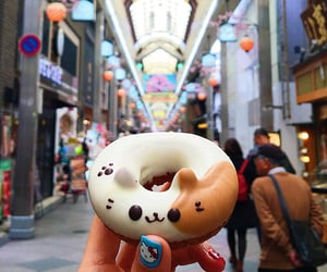 food, donuts, and cat image
