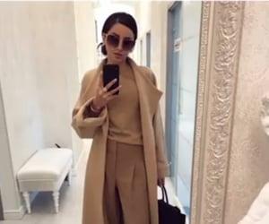 classy, coat, and sunglasses image