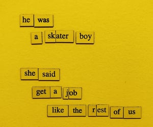 discover, poem, and yellow aesthetic image