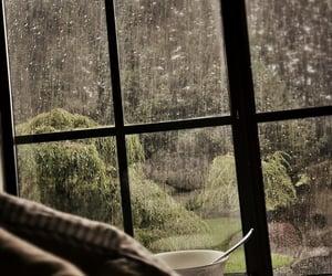 rain, cozy, and window image