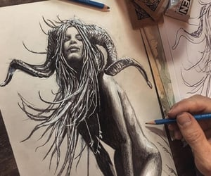 arte, belleza, and ilustracion image