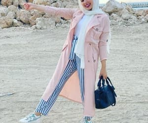 pink dress with jeans image