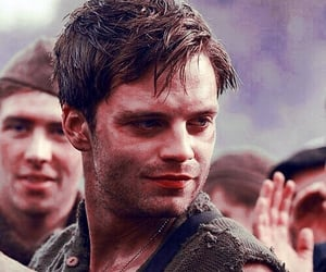 sebastian stan, bucky barnes, and captain america image
