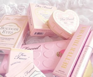 too faced, pink, and makeup image