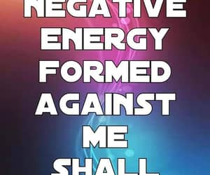 no negative energy, in the name of jesus, and will not prosper image