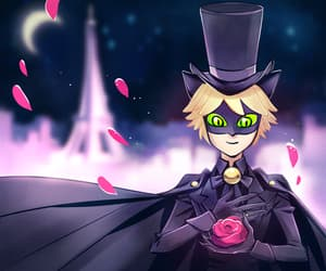 Chat Noir, sailor moon, and crossover image