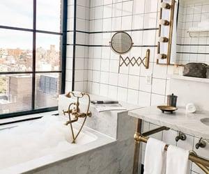 bathroom, room, and fashion image