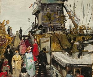 van gough and windmill painting image