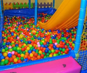 kidcore, playground, and rainbow image