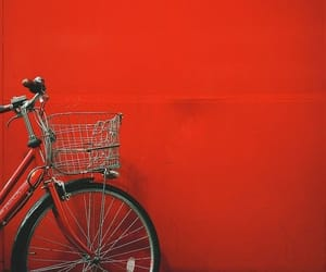 aesthetic, bike, and red image