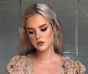 girl, gray hair, and silver hair image
