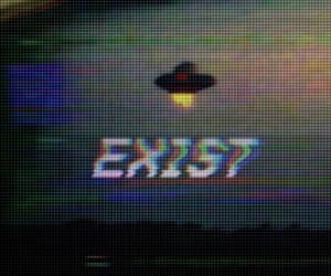 alien, grunge, and exist image