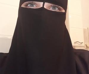 beauty, blue, and hijab image
