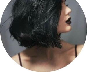 black, hair, and makeup image