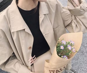 aesthetic, clothes, and flowers image