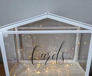 cards, fairy lights, and vinyl image