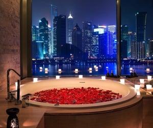 bath, night, and beautiful image