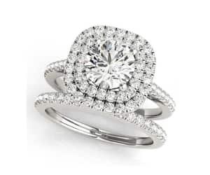 etsy, wedding rings set, and man made diamond image