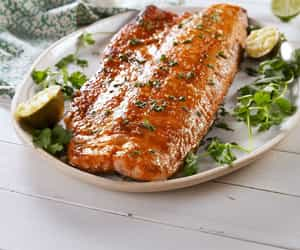 article, fish, and food image