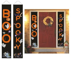 banner, boo, and decoration image