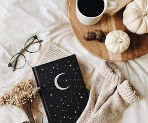 book, cozy, and fall image