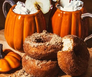 donuts, autumn, and fall image
