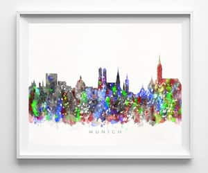 cityscape, etsy, and watercolor art image