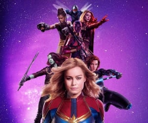 black widow, captain marvel, and Marvel image