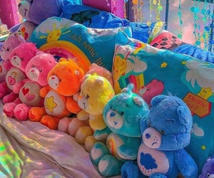 aesthetic, rainbow, and care bears image