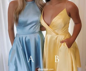 yellow dress, fashion dresses, and blue homecoming dresses image
