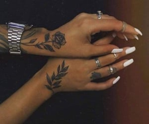 ink, jewelry, and nails image