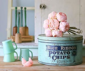antique, dishes, and vintage image