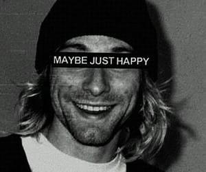 nirvana, kurt cobain, and happy image