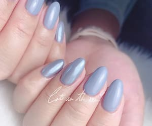 almond, nail design, and beauty image