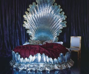 bed, shell, and bedroom image