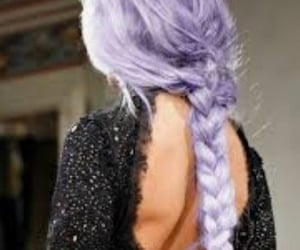 braid, lavender, and hair image