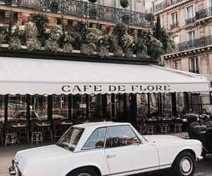 car, cafe, and city image