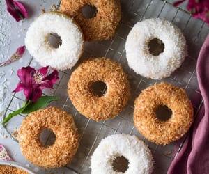 dessert, donuts, and doughnut image