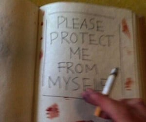 cigarette, blood, and grunge image