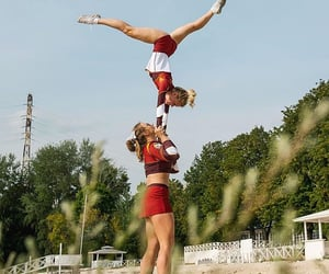 cheer, sport, and friends image