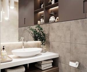 bathroom, decoration, and home decor image