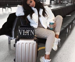 fashion, outfit, and airport image