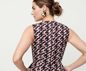 dress, j crew, and gold earrings image