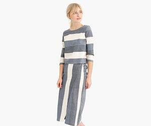 j crew, skirt, and stripes image