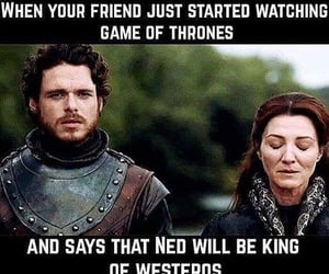 game of thrones, robb stark, and catelyn stark image