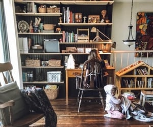 books, home, and kids image