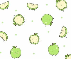 wallpaper, apple, and green image