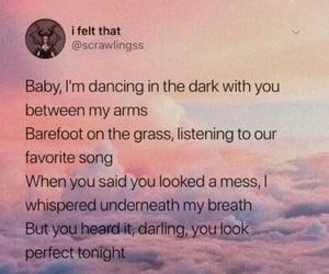 background, couple, and Lyrics image