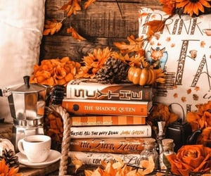 beverages, coffee, and books image