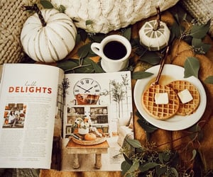 autumn, waffles, and blankets image